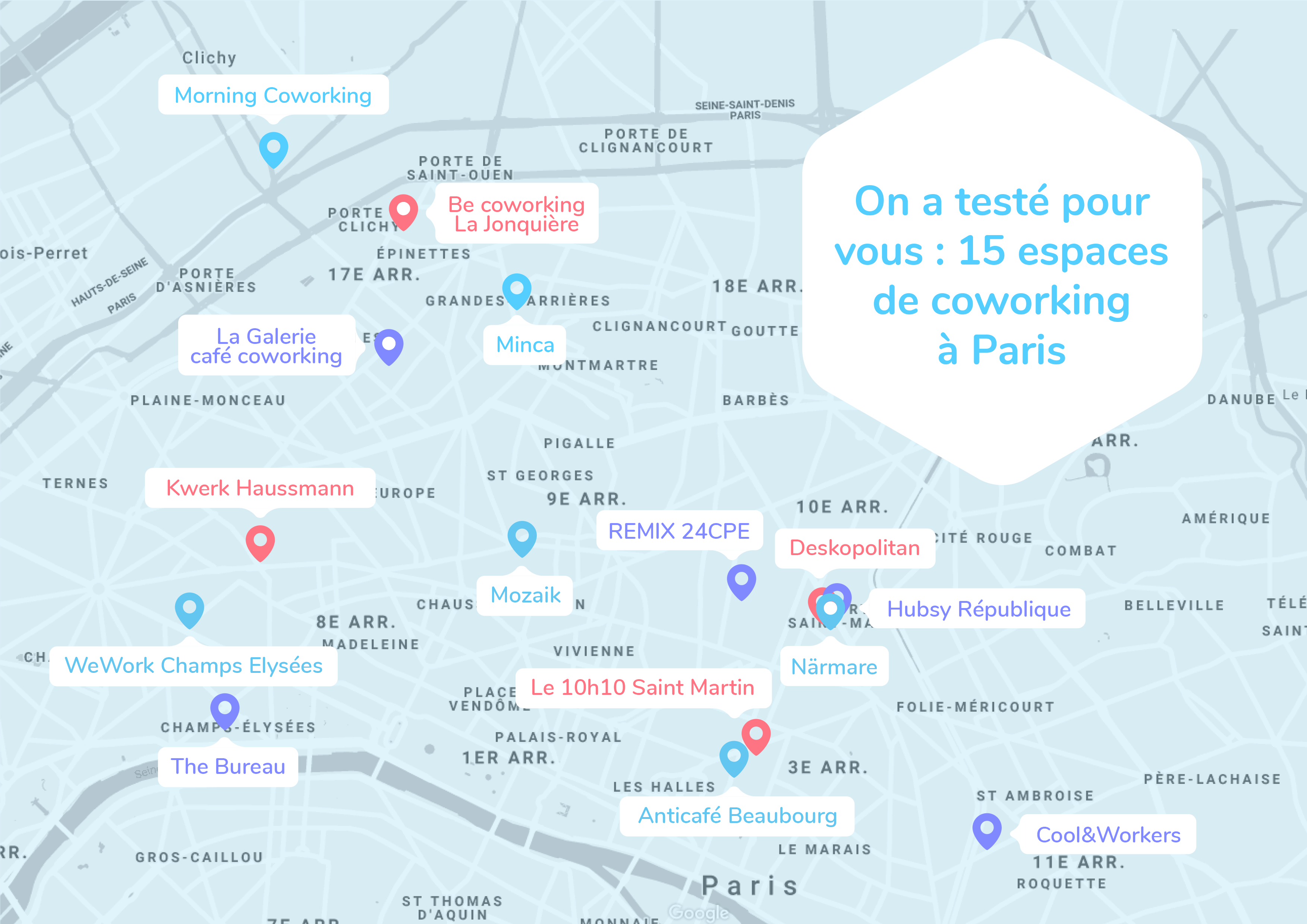 15 espaces de coworking à Paris